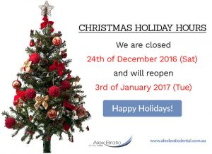 Alex Bratic Dental Care Christmas Holiday Hours | Dentist Beenleigh