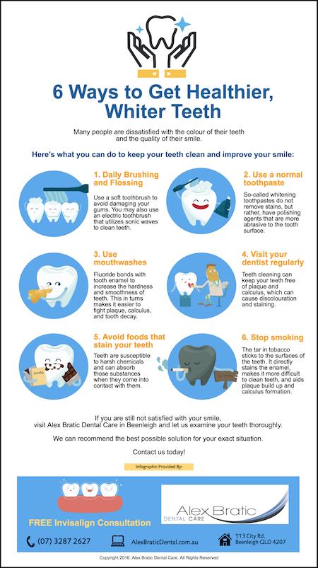 Beenleigh Dentist Tips 6 Ways to Get Healthier Whiter Teeth