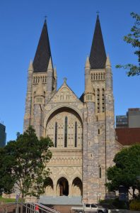 Front of St John Cathedral Brisbane